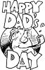 Father with the Words Happy Dad's Day clipart