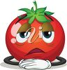 Exhausted Tomato clipart