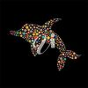 Dolphin Created From Flowers clipart