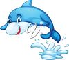 Dolphin Jumping Out of the Ocean clipart