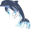 Dolphin Jumping Out of the Water clipart