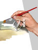Hand Painting a Watercolor Picture clipart