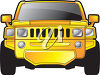 Bright Yellow Hummer Car clipart