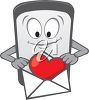 Cell Phone Holding a Valentine's Day Card clipart