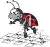 Ladybug Playing Hopscotch clipart