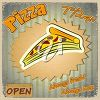 Retro Advert for Pizza clipart