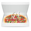 Pizza in a Takeaway Box clipart