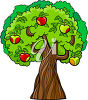 Apple Tree with Apples Growing clipart