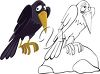 Cartoon Raven clipart