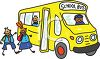 Kids Entering a School Bus clipart