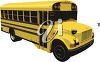 3D School Bus clipart