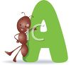 A is for Ant clipart