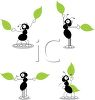 Ants Making Signals with Leaves clipart