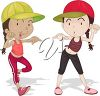 Two Girls Dancing clipart
