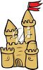 Sand Castle on the Beach clipart