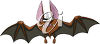 Evil Looking Vampire Bat clipart