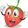 Strawberry Waving his Hands in the Air clipart