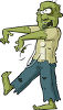 Walking Zombie clipart