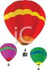 Hot Air Balloons in the Sky clipart