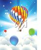 Hot Air Balloons Above the Clouds clipart