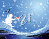 Snowman Snowboarding on the Snow clipart