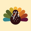 Brightly-Colored Turkey clipart
