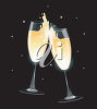 Two Glasses of Champagne Celebrating clipart
