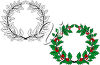 Holly Wreaths clipart