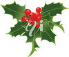 Holly Leaves and Berries clipart