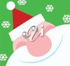 Smiling Santa Claus clipart
