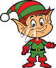 Smiling Christmas Elf clipart