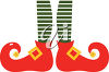 Christmas Elf Shoes clipart