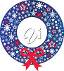 Christmas Wreath with a Bow clipart