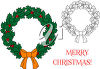Christmas Wreath with Bow clipart