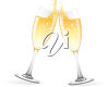Two Glasses of Champagne clipart