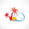 Vacation Themed Illustration clipart
