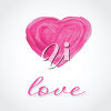Painted Heart with the Word Love clipart