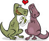 Dinosaurs in Love clipart