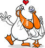 Ducks in Love clipart