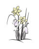 Spring Crocuses and Daffodils clipart