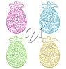 Goup of Easter Eggs clipart