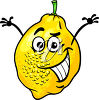 A cartoon lemon clipart