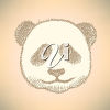 An illustration of a panda bear's face clipart