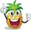 An illustration of a smiling pineapple clipart