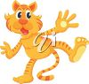 A cartoon illustration of a tiger clipart