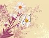 A beige background with daisies clipart