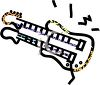 An illustration of an electric guitar clipart