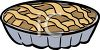 An illustration of a pie in a plate clipart