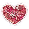 An illustration of a rose heart valentine clipart