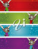 Reindeer christmas tags clipart